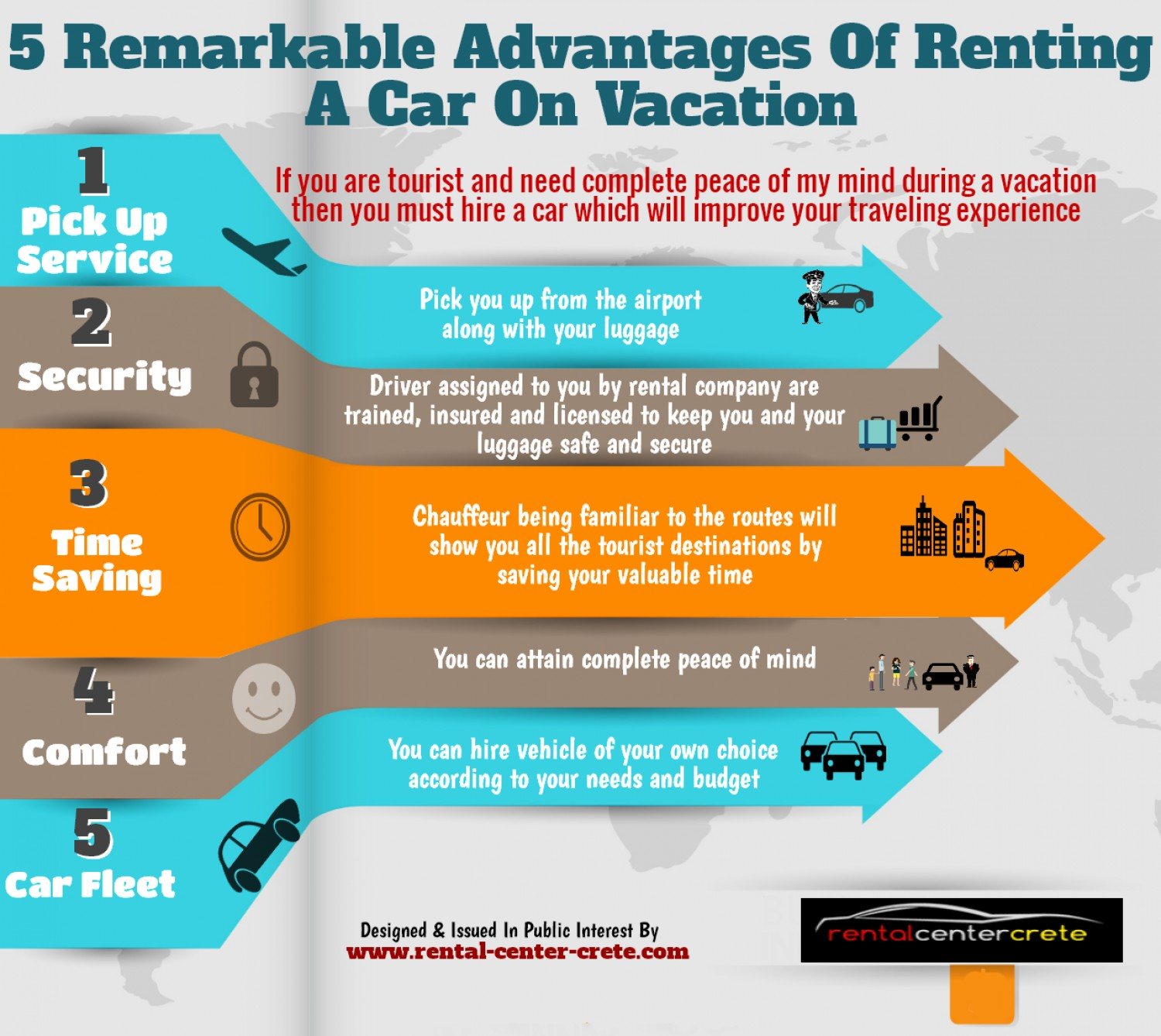 Advantages of renting a car on vacation